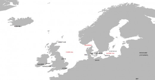 The norhlands - some of the main locations in the Saga of Hunding Hrothulfsson
