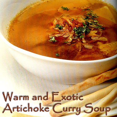 Serve this silky Artichoke Curry Soup at your next get together and be the talk of the town!