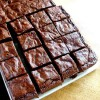 The perfect brownie recipe. Chewy not cakey.