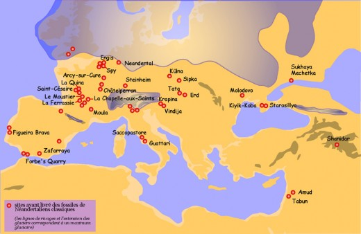 Neanderthal ancestors migrated from Africa to Europe/Asia long before modern humans began their migration from Africa.
