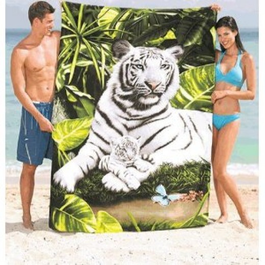 These oversized towels are great for couples, parents, and friends who need a sand-free area to lay down on (or to dry off on.)