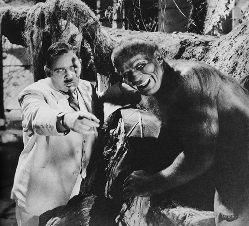 Moreau with one of his creatures from the 1932 Island of Lost Souls