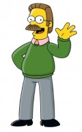 Ned Flanders with mustache