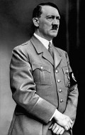 Adolf Hitler with toothbrush mustache.