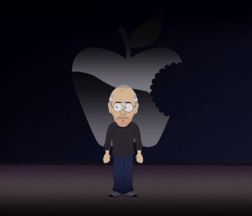 South Park making fun of Apple.