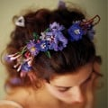 A colorful floral headband
