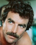 Tom Selleck with his Magnum P.I. 'stache.