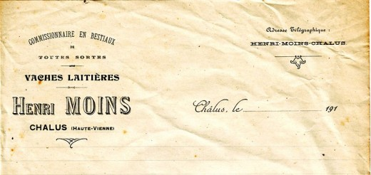 An old letterhead