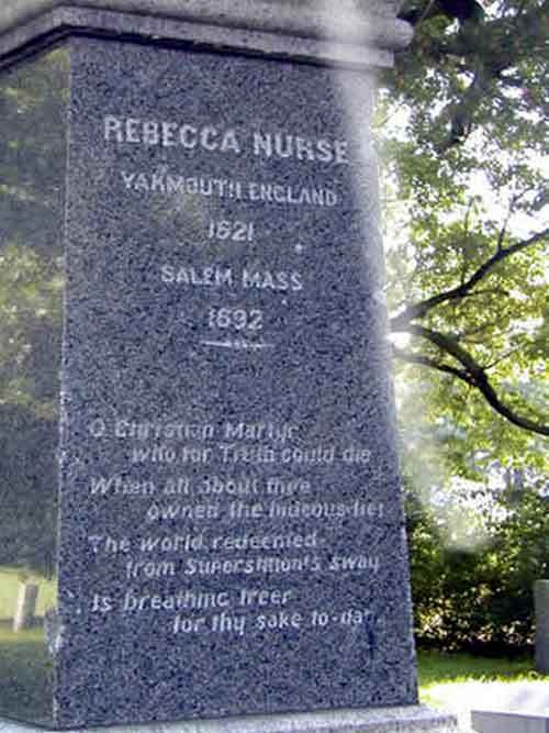 Rebecca Nurse's Memorial, notice the mist coming down from the top!
