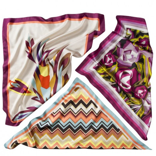 """Missoni"" Scarves sold in accessories department."