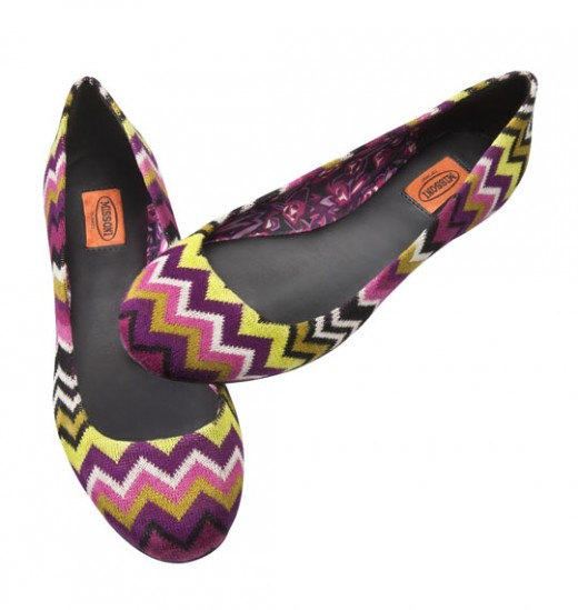 """Missoni"" ladies shoes."