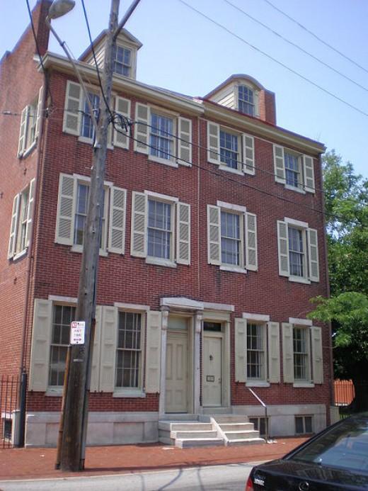 The Edgar Allan Poe House in Philadelphia