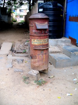 THIS IS A POST BOX WHICH PUTS THE COUNTRY TO SHAME IN FRONT OF A FOREIGN VISITOR.