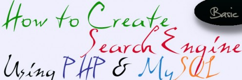 How to create basic search engine using php and mysql