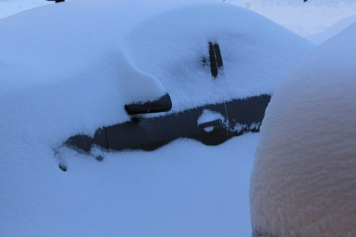 car buried in the driveway on Jan 28, 2011.
