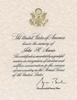 Presidential Memorial Certificate for Deceased Veterans - Information on Application Process