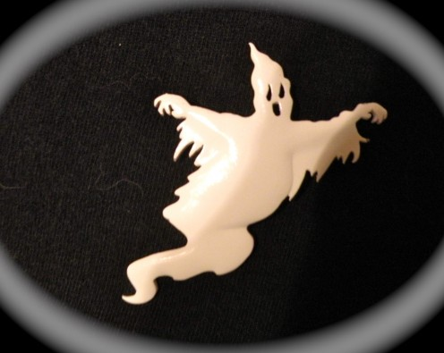 Ghost pin photo enhanced used as the lead photo in the Halloween Hub.