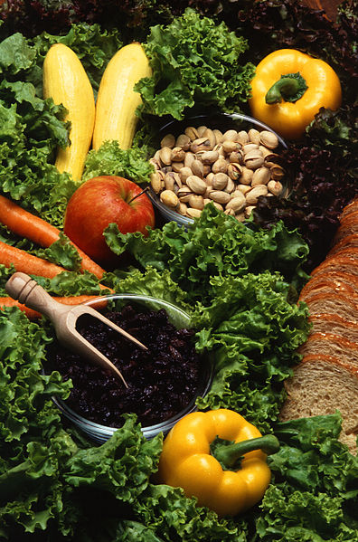 These foods are typical of those eaten by the 12 volunteers during a study of how plant-rich diets affect blood lipids, antioxidant defenses, and colon function. USDA photo by Scott Bauer. Image Number K8234-2