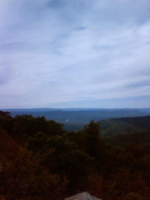 This is your reward for walking a little over a mile uphill.  Even on a cloudy day it is worth the walk.