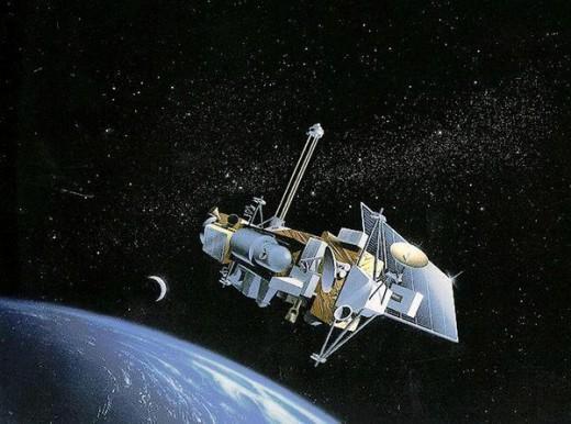 NASA: UARS satellite. (Artist's Depiction)