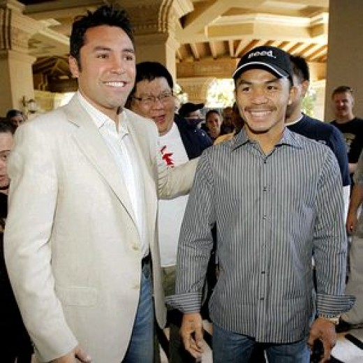 De la Hoya and Pacquiao
