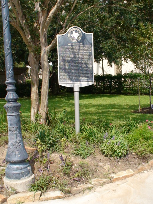 Historical Markers like this one tell the story of an historical location.