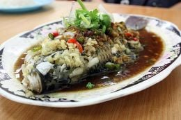 A Whole Steamed Tilipia is oh so delicious and it makes a beautiful presentation.