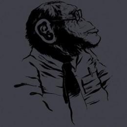 geeky smart monkey glasses tie pocket protector