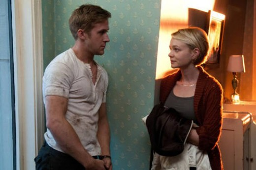 Ryan Gosling as Driver and Carey Mulligan as Irene