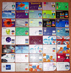 40 of my credit cards by k9ine on Flickr