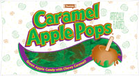 "Caramel Apple Pops, made by ""Tootsie."""