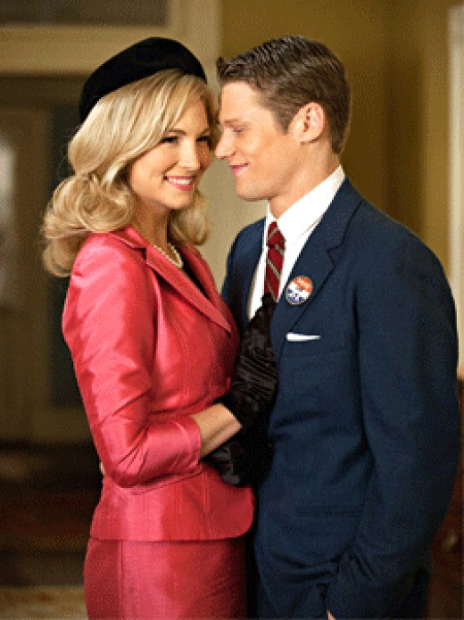 "Candice Accola and Zach Roerig as Caroline Forbes and Matt Donovan in episode 2X18, ""The Last Dance"""