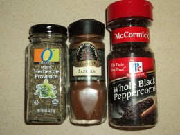 Spices and Herbs for Blend - Also Salt Not Shown