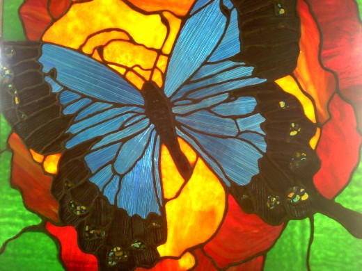 My 1st stained glass piece- inspired by the vibrant colors in nature