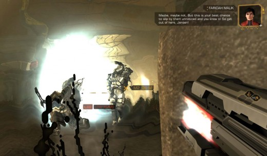 Deus Ex Human Revolution Defeating the Heavy Advance Vanguard on route to Saving Faridah Malik using the PEPS