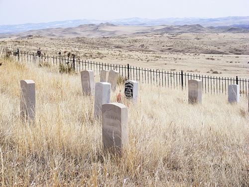 Grave yard at Little Big Horn battle site.