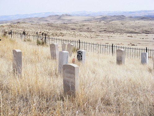 Grave yard at Little Big Horn battle site.
