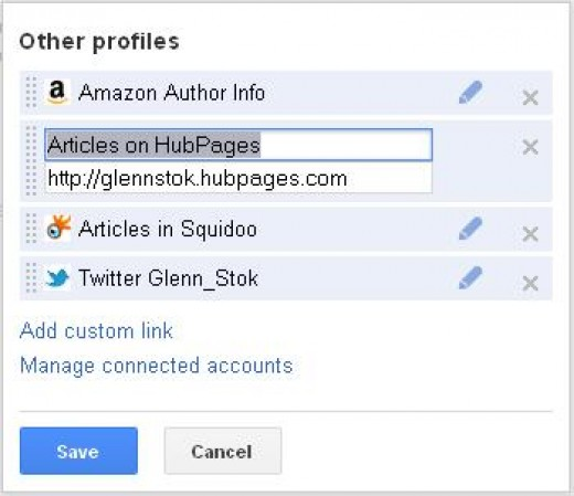 Figure 3: Entering Author's Profile URL