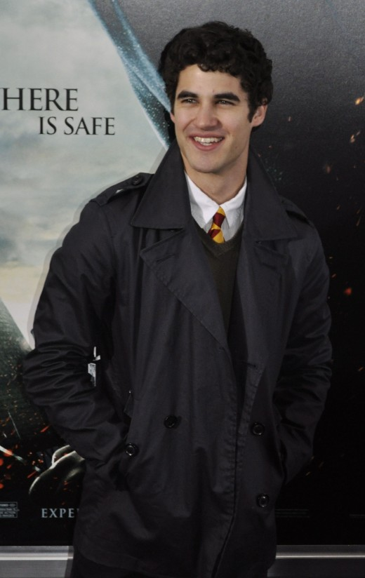 Darren Criss at the premiere of Harry Potter and Deathly Hallows in 2010.