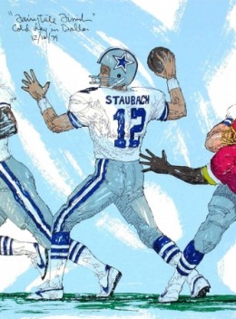Roger Staubach painting