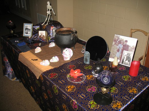 An ancestor shrine for Samhain