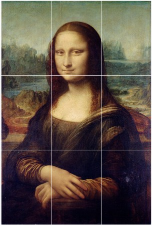 Mona Lisa by Leonardo Da Vinci The most famous painting on earth doesn't follow the rule, except for the landscape in the background.