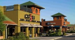 This is the Outlet at Castle Rock, Colorado, one of the largest in the nation.  Some of the best name brands are sold here.