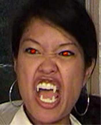 he Michelle Malkin Rabid Shape-Shifter Face Accessories