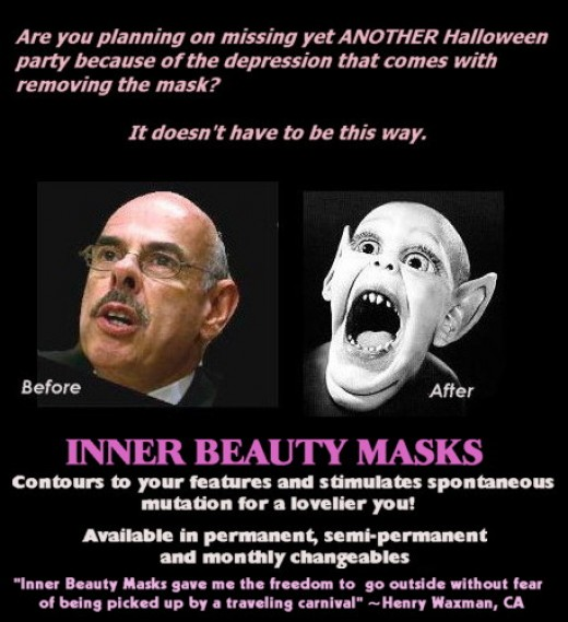 Henry Waxman endorsed Inner Beauty Masks