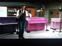 Purple pianos are all the rage at McKinley High... or not.