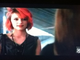 Quinn wants to exude a bad girl persona, but when confronted by Rachel, a glimmer of the old Quinn shows through.
