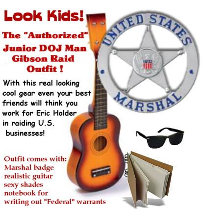 The Authorized Junior DOJ Man Gibson Guitar Raid outfit