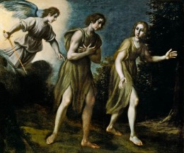 Expulsion of  Adam and Eve from Paradise / Francesco Curradi (1570 - 1661)
