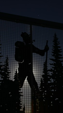 Silhouette of the Paul Bunyan Trail in Brainerd, MN. Shot in Manual on a Canon 60D with the moon providing backlight. 4:16AM. F-7.1| Exposure- 30 sec. ISO- 200 Focal- 29mm Flash- OFF.